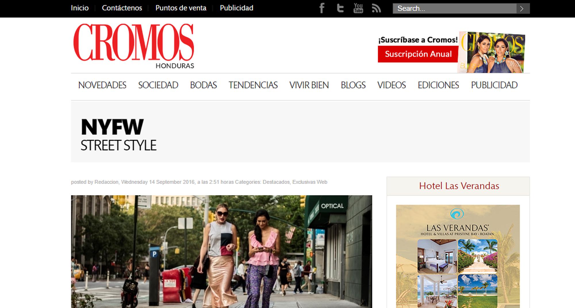 Street Style de NYFW para cromos.hn