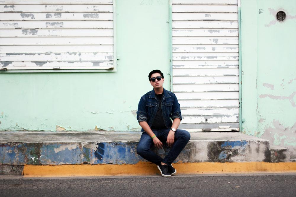 jose vargas look denim jacket style menswear fashion street style moda en la calle pasarela honduras fashion blog blogger