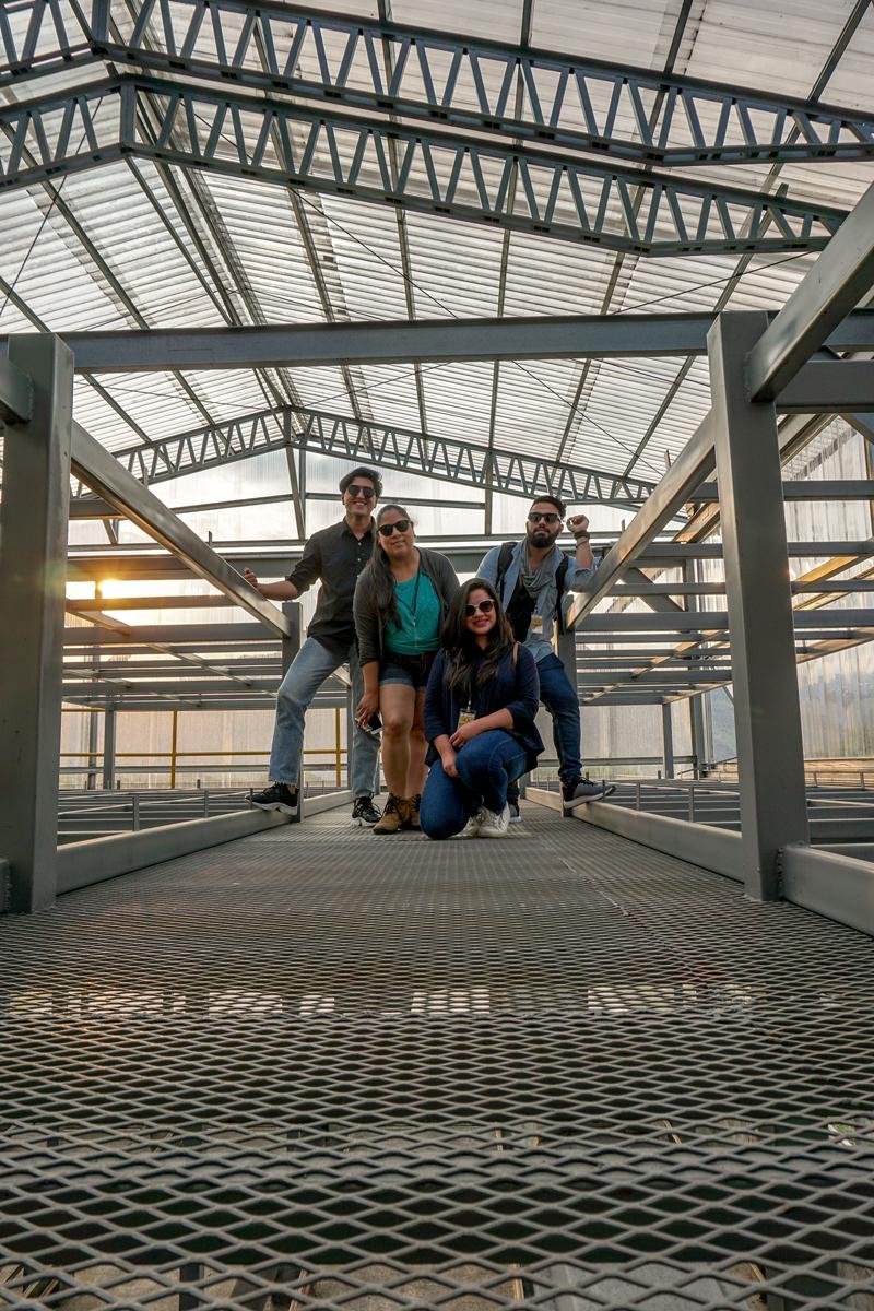 El crew del viaje: Milca Meza, Maria Jose Martinez, Mr Hombre