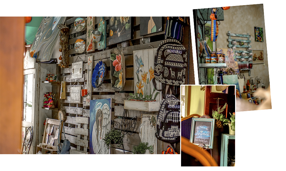 La Placita también bien tiene tiendas de arte y souvenir