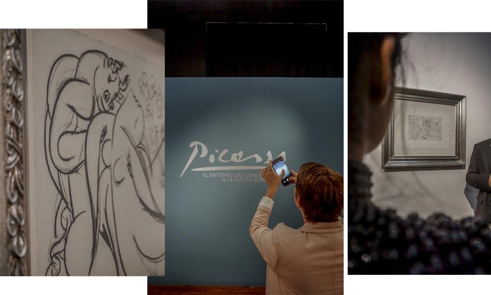 Previo a la cena hicimos un recorrido por la exposición de Picasso