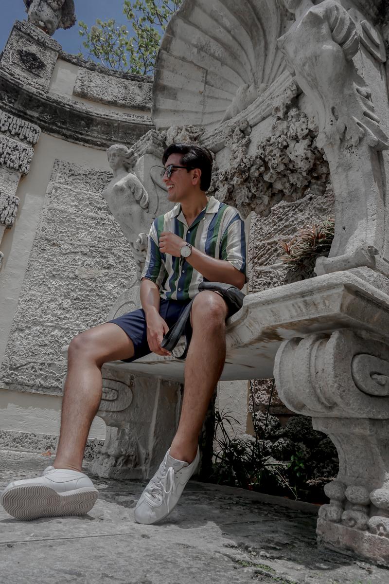 Camisa  Zara , Short  TopMan , Zapatillas  Nike , Bolso  Danilo's Fine Leather