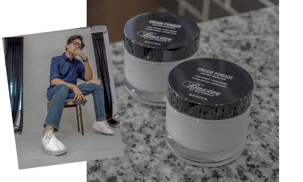 Pomada Baxter Hard Cream – Light hold - Esta pomada es ideal para dar un brillo y un estilo natural al cabello. Es a base de agua y se lava fácilmente, esto hace que el cabello siempre me quede un poco suelto y no del todo fijado, dándome un look más casual.