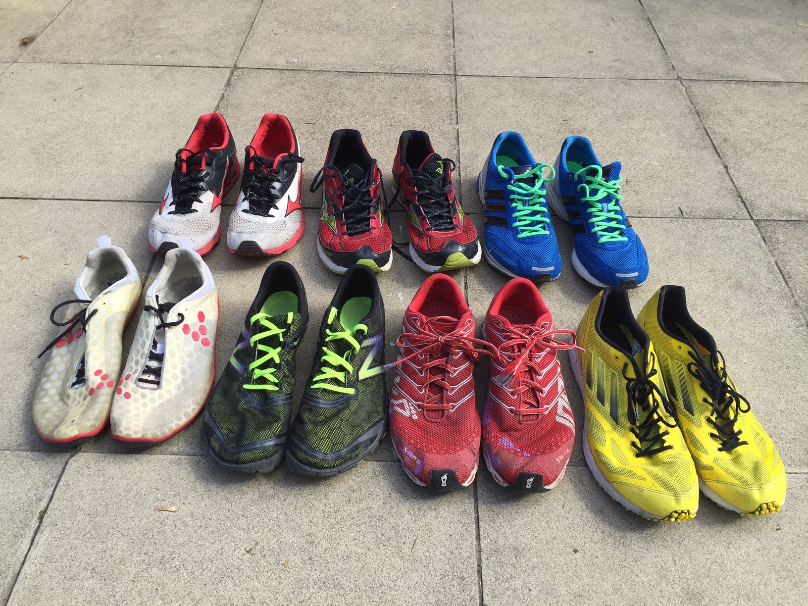 My current shoe collection, not including the ones that love at work. Not an Asics in sight!
