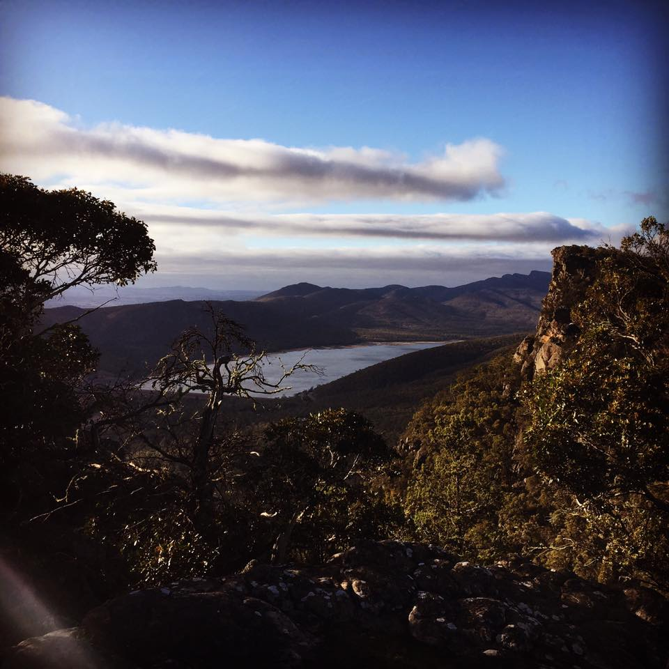 lake bellfield from the pinnacles