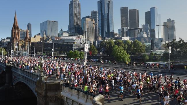 Melbourne Marathon, what a sight.