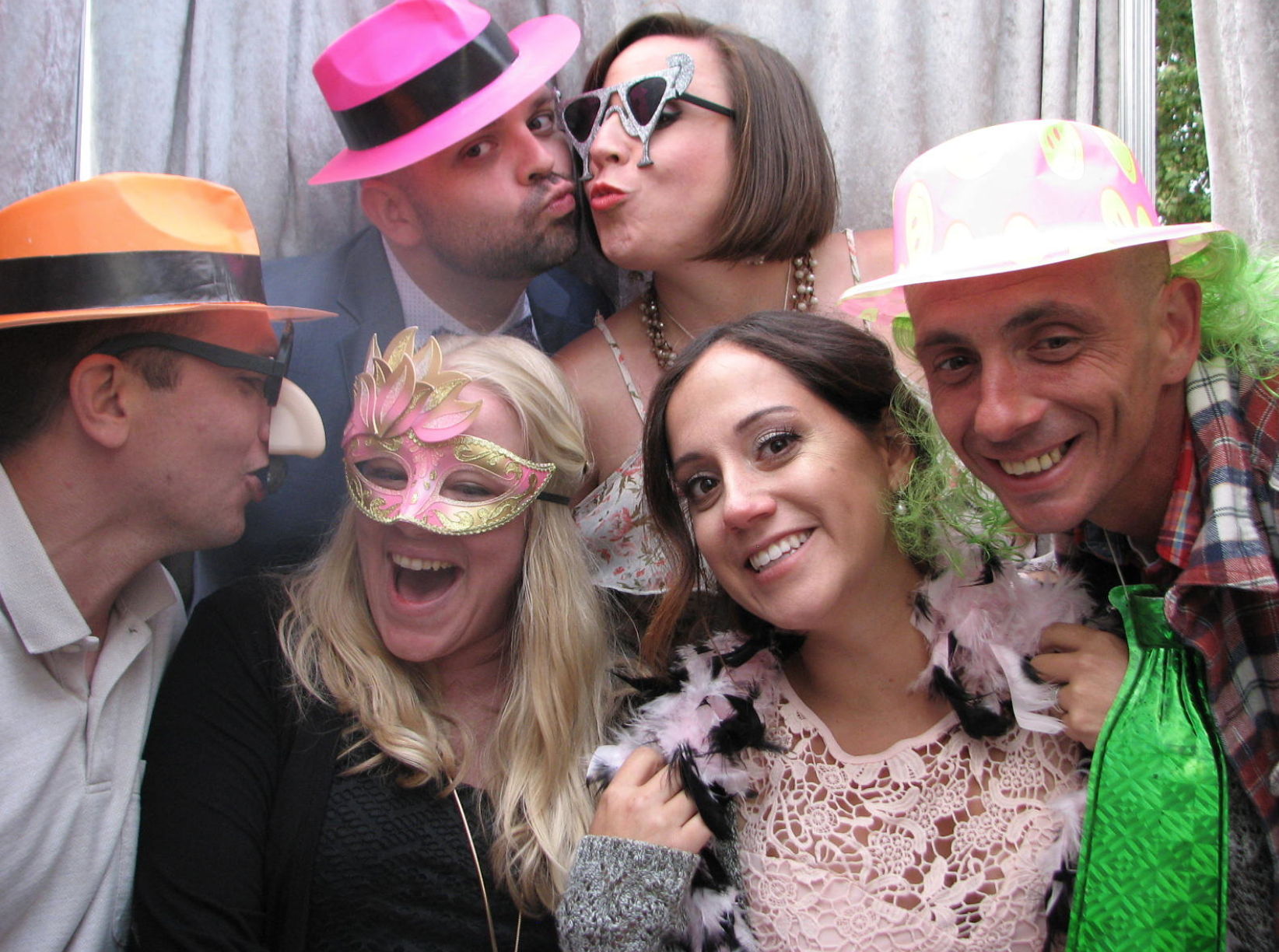 Photo Booth - Great fun and lasting memories; a great addition to a reception or dance party.3 Hour package $650 + $90 / each addt'l hourIncludes fun party props packageNote: Prices valid when combined with DJ package
