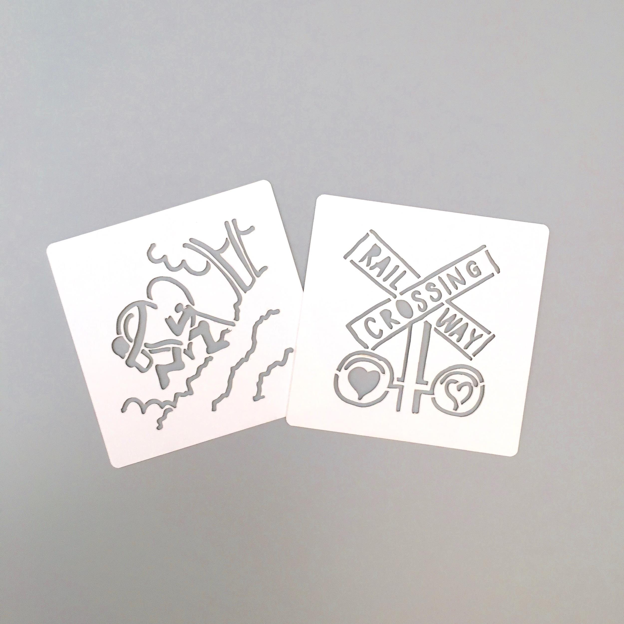 Small Laser Cut Stencil