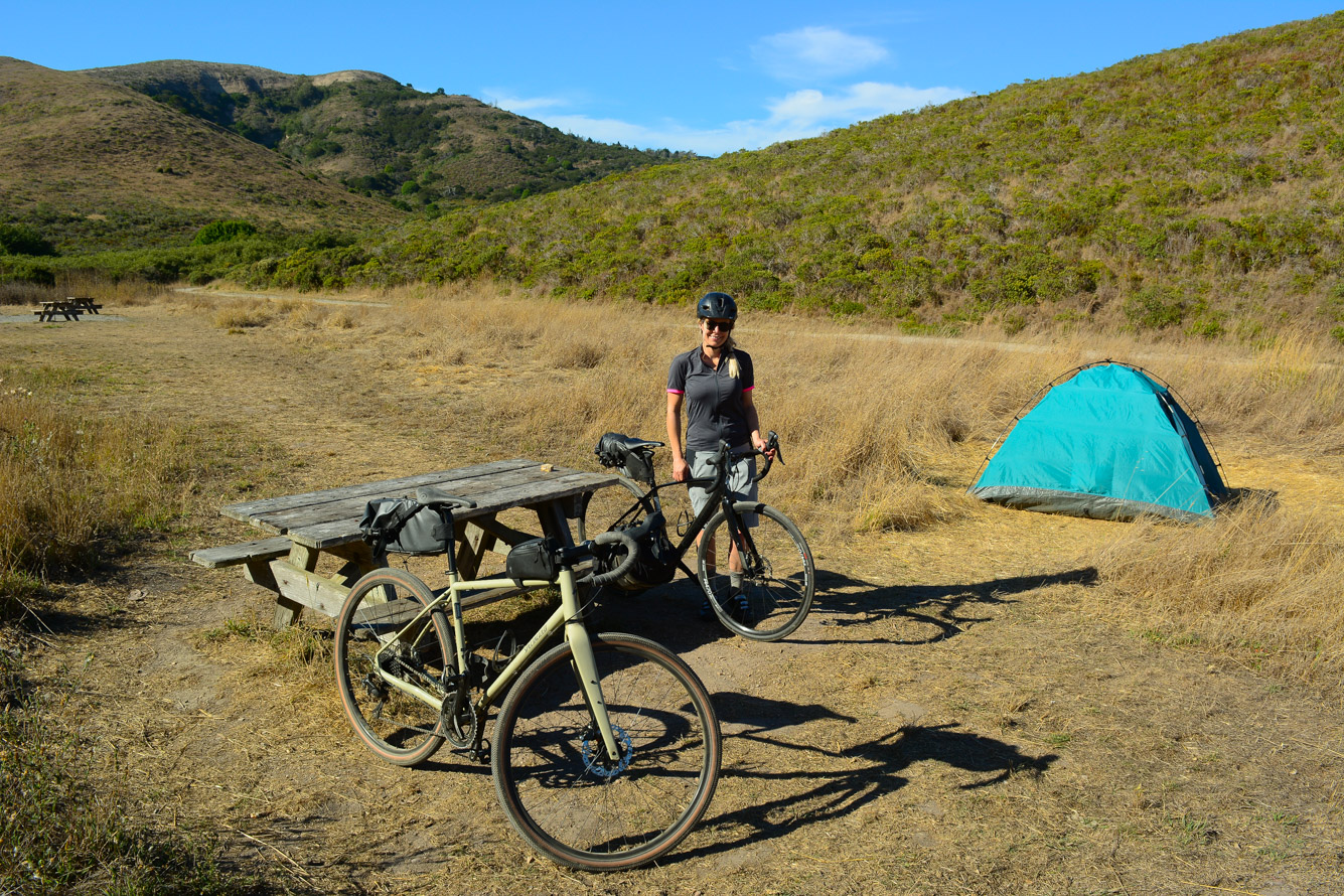 Coast campground Pt. Reyes bikepacking