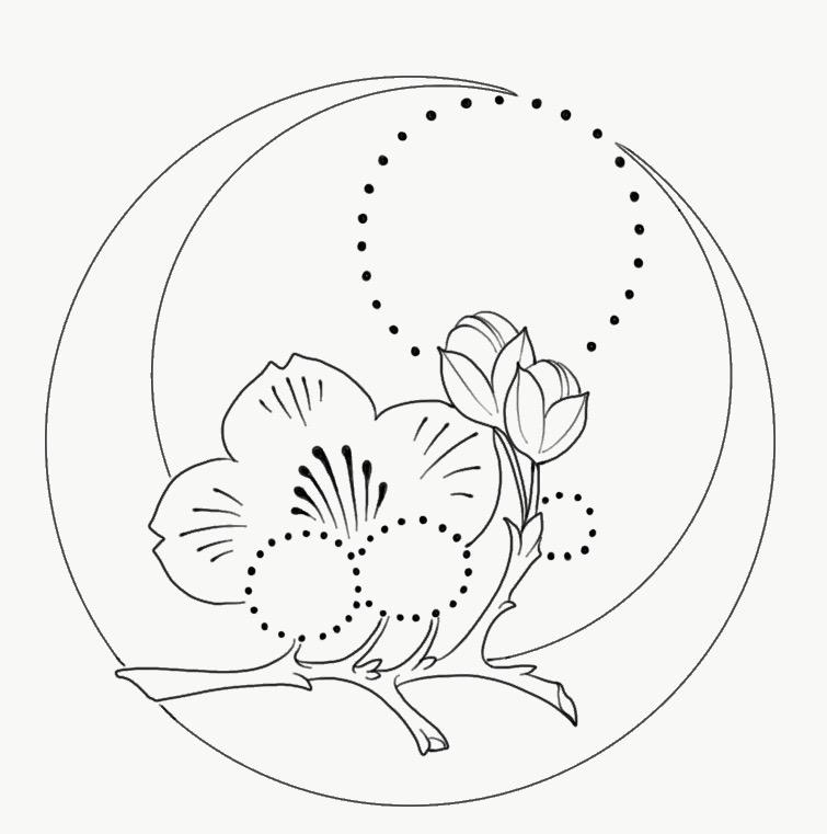 Plum Blossom w/ Moon