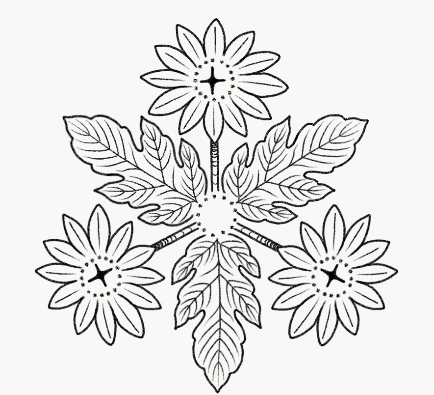 Kiku - Chrysanthemum Flower + Leaves
