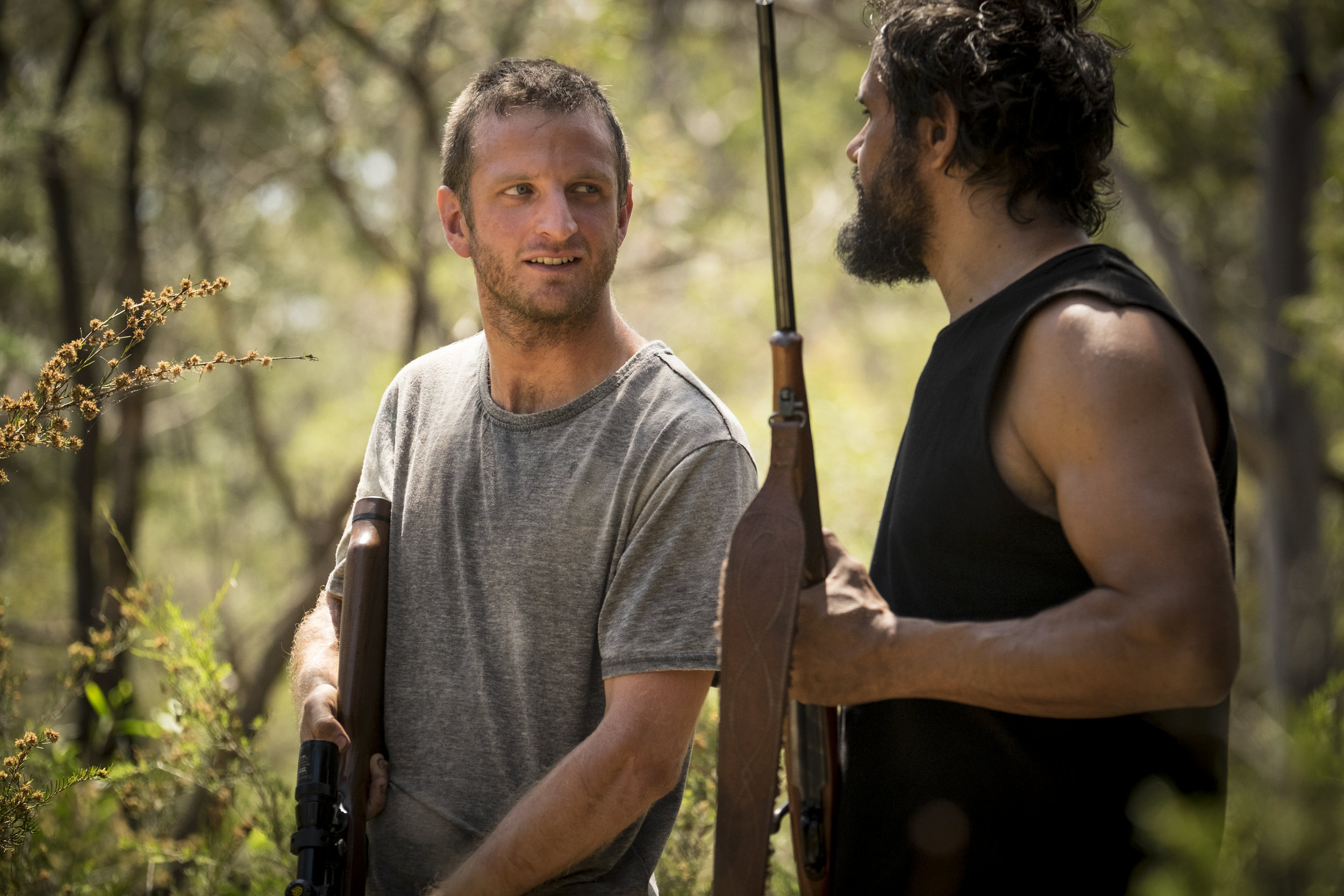 Aaron Glennane (Chook) and Aaron Pederson (German) in Killing Ground.