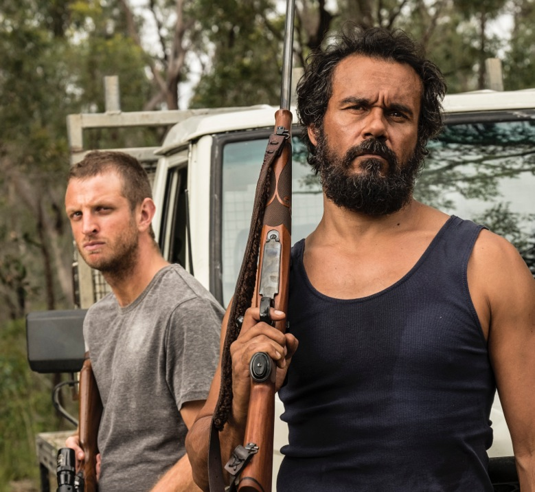 "Aaron Glenane and Aaron Pederson in ""Killing Ground"""