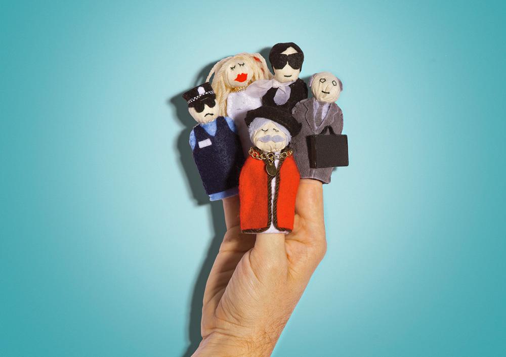Image: Police man, socialite, mayor, fashion designer, business man.