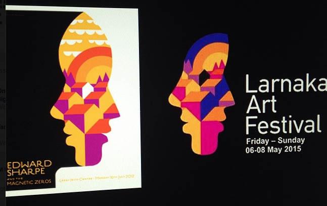 LEFT: My Edward Sharpe poster, 2012 RIGHT: Larnake Art Festival, 2015