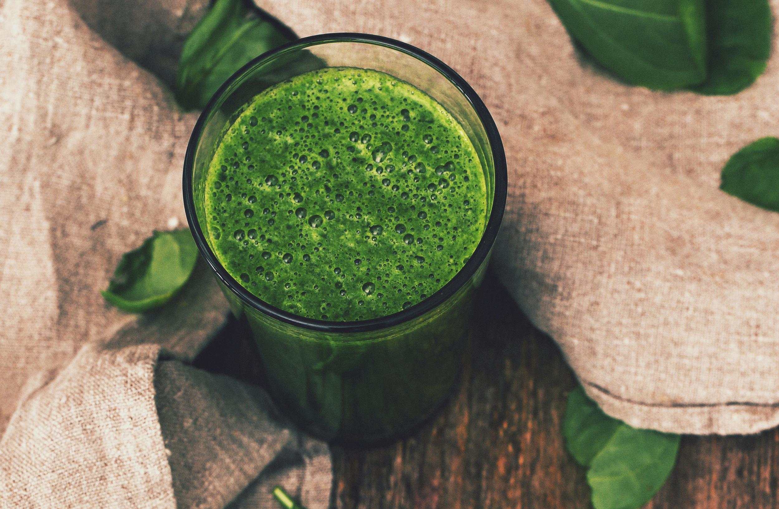 jugo verde espinaca