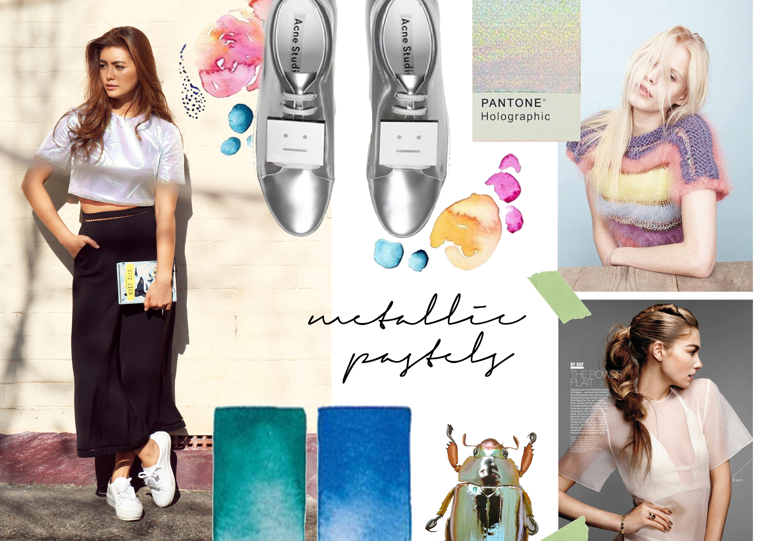 Metallic Pastels Mood Board