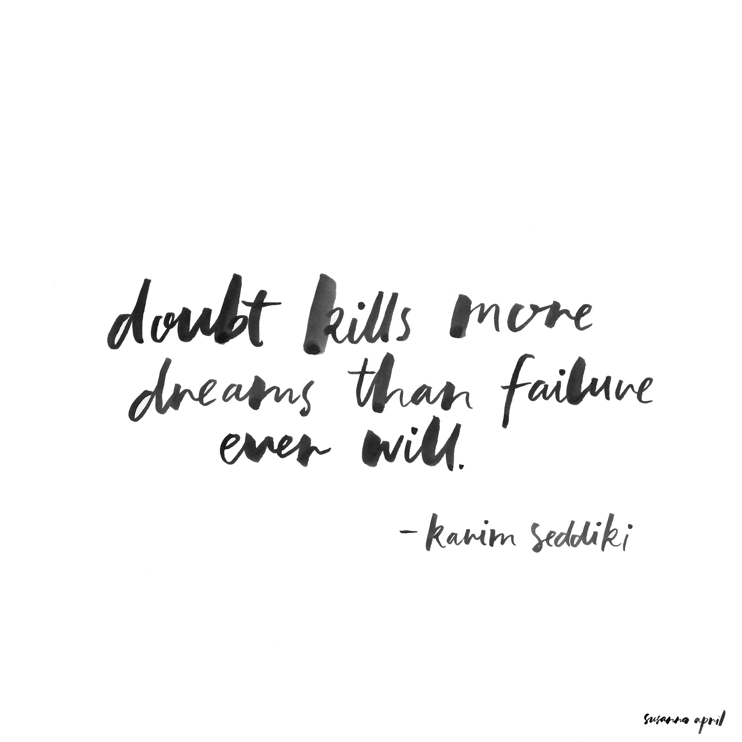 Doubt Kills quote