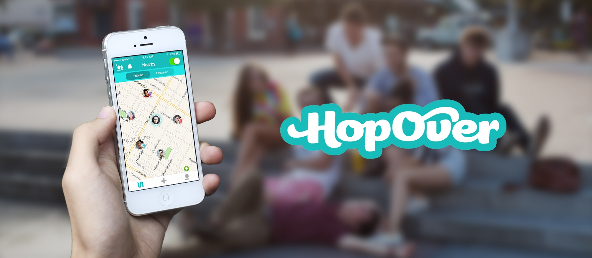HopOver Nearby Messenger