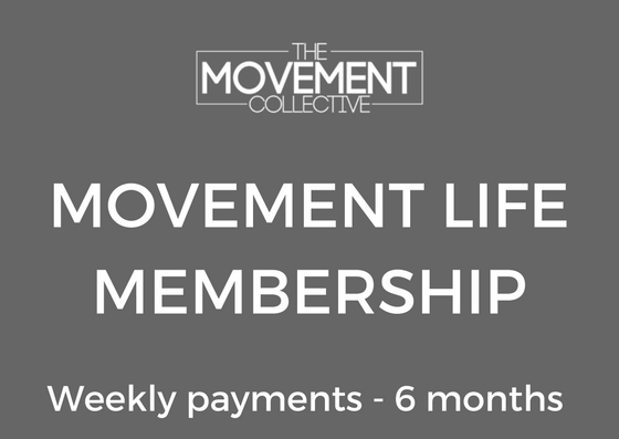 MOVEMENT LIFE #2 - Movement Life - 6 month membership✔️ Access to open gym✔️ Unlimited classes✔️ Monthly testing sessions✔️ High Level coaching✔️ 6 month contracted membership✔️ Access to Members page/ Events/workshops✔️ Weekly investment $50