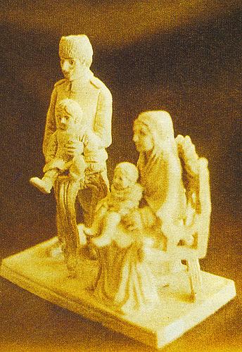 """""""Cihat Burak ve Ailesi"""",porselen biblo"""