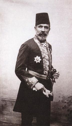 """Fausto Zonaro """"Paşa"""" kıyafetinde."""