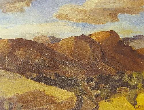 """""""Arapkir-Hezende Yolu"""", (1937), Tuval üzerine yağlıboya, 33x41 cm (İRHM)"""