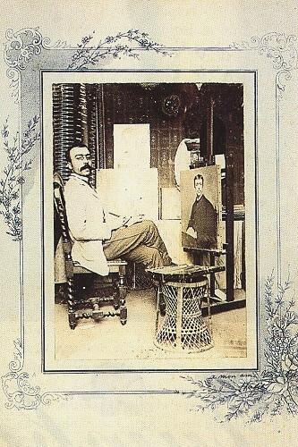 Halil Paşa'nın Paris yılları. (Ahmet Rıza Bey'e imzaladığı fotoğraf, Taha Toros arşivi).