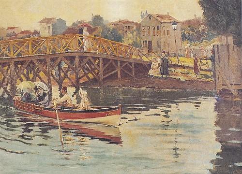 Halil Paşa'nın bir tablosundan basılan kartpostal.