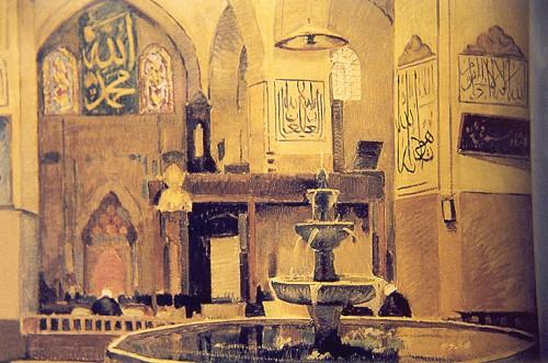 Bursa Ulucami İçi, 1926, 98x84 cm, tuval üzerine yağlıboya (İstanbul Ticaret Odası)