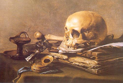 "Pieter Claesz, ""Vanitas""1630 39.5 x 56 cm Tuval üzerine yağlıboya The Hague Mauritshiuis"