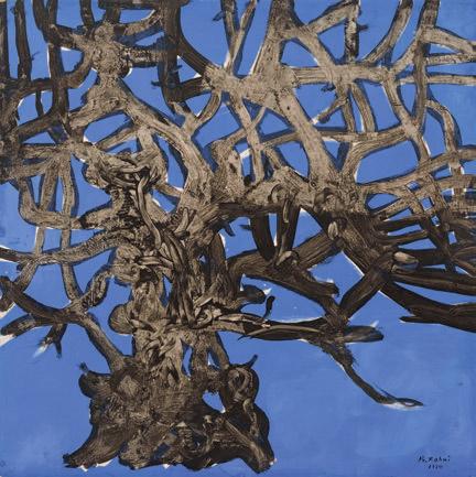 """""""Yaşlı Ağaç"""", 1974, kontrplak üzerine akrilik, imzalı. 123x123 cm."""
