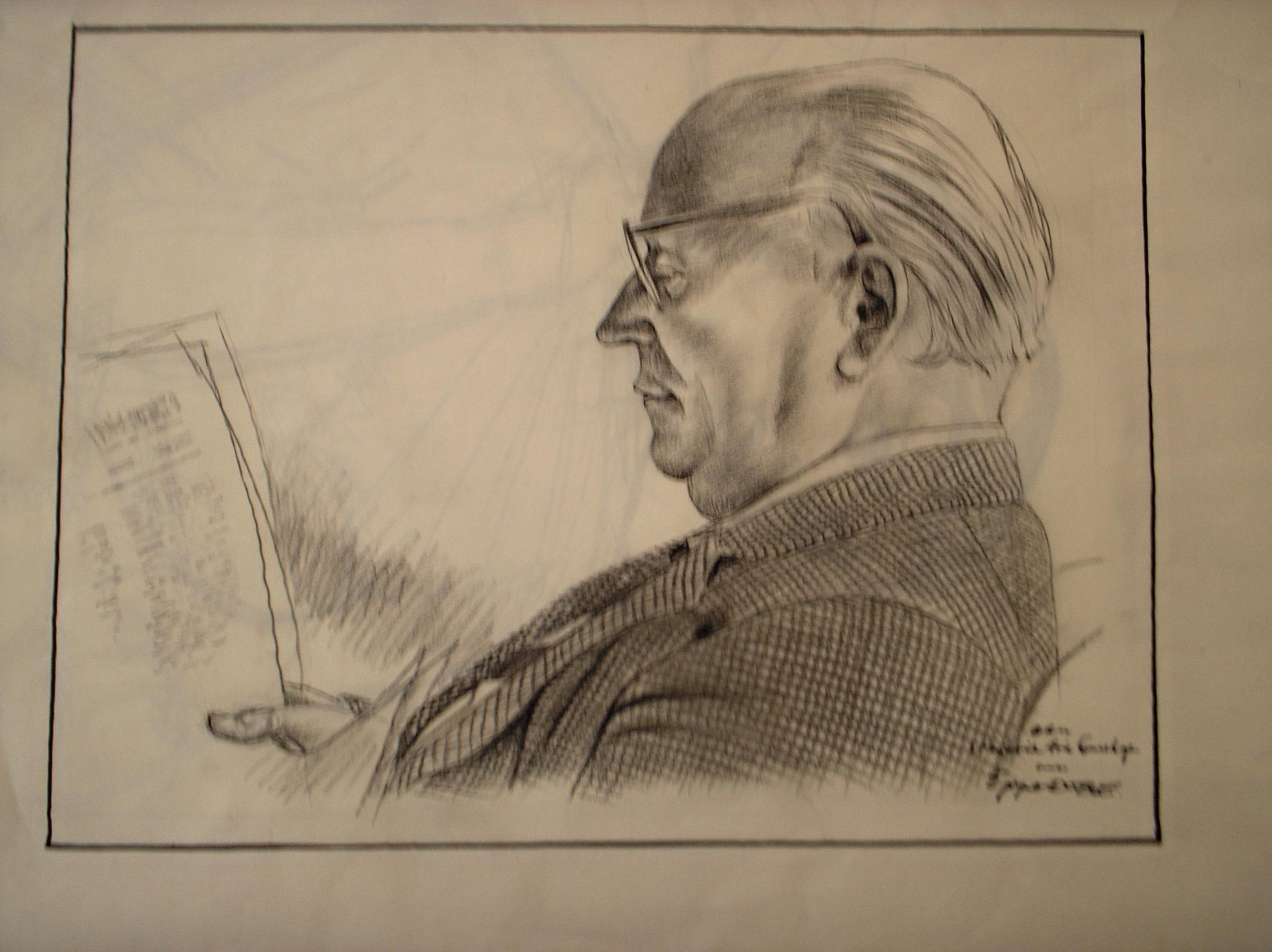 Hendrik Arie Lunshof getekend door Doeve, collectie Persmuseum