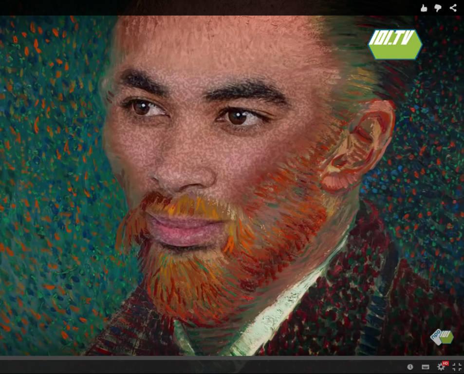 Nathan de Vries als Vincent van Gogh