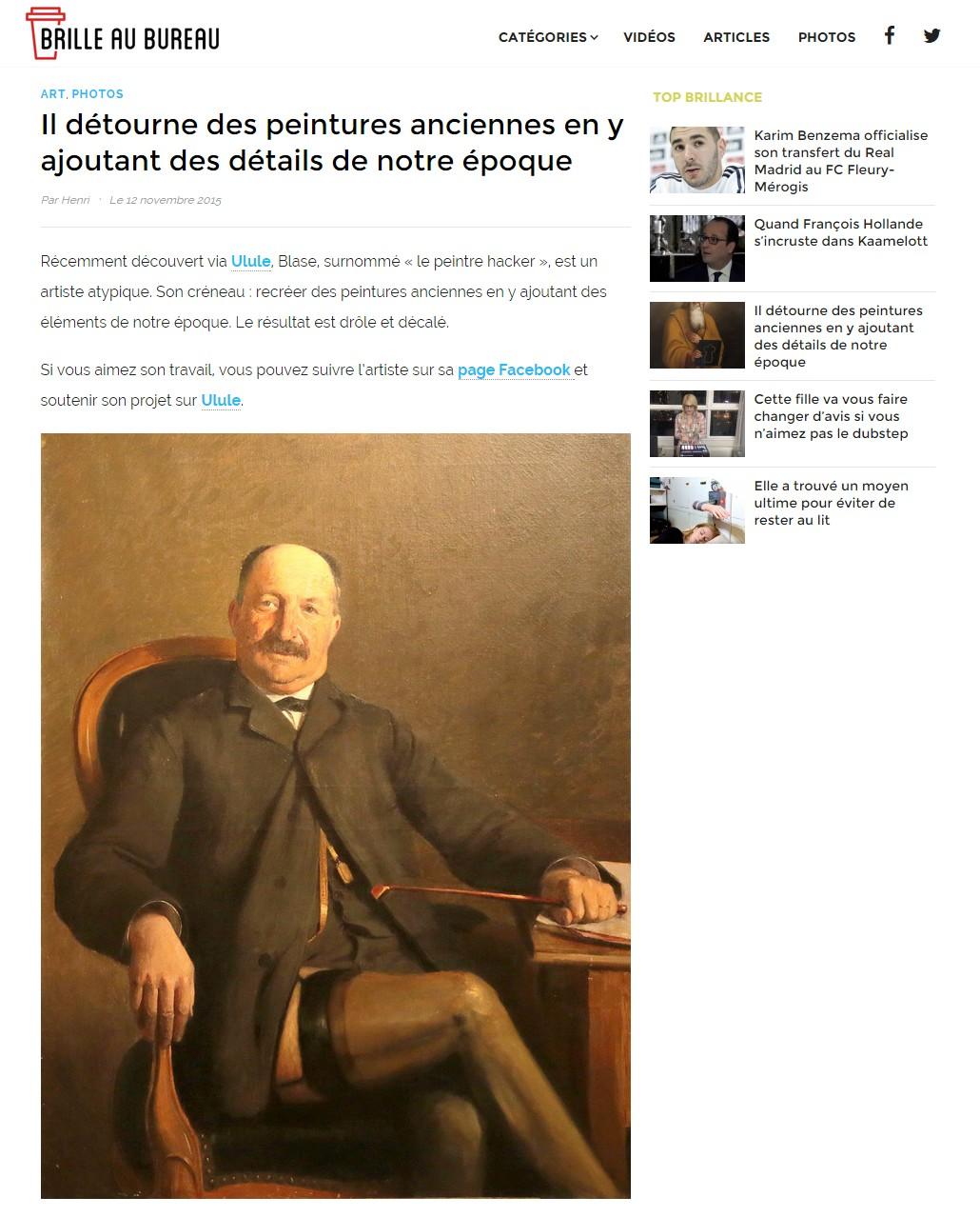 article Blase Brille au bureau 12.11.2015