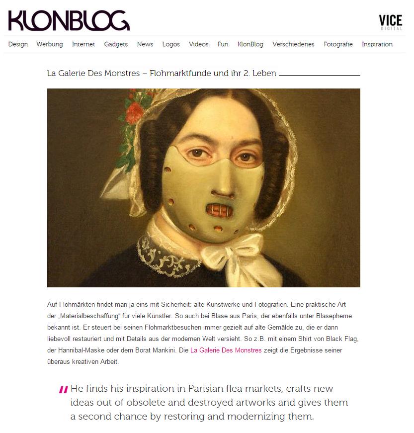 capture écran article klonblog