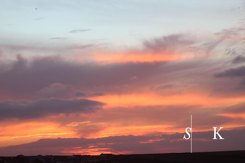 Sunset December Cornwall