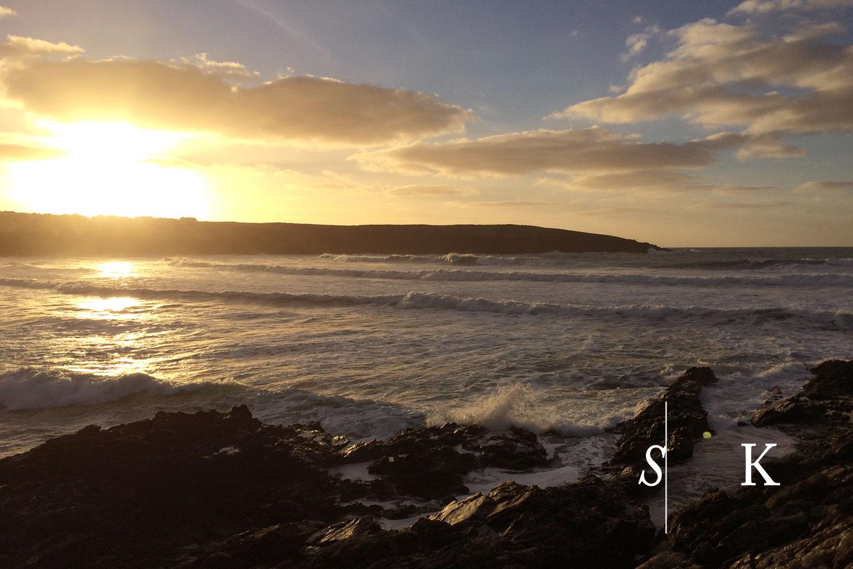 North Cornish Coast in January Sun Set