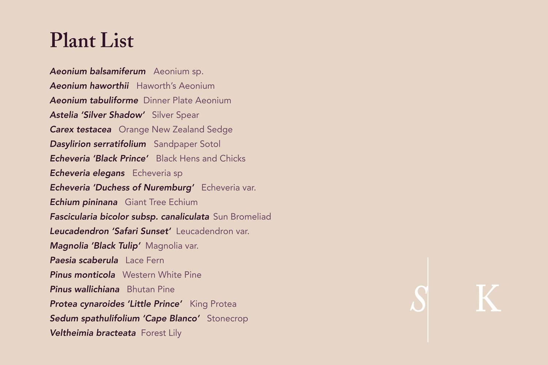 Plant List Boconnoc 2017 Selma Cornwall Garden Design