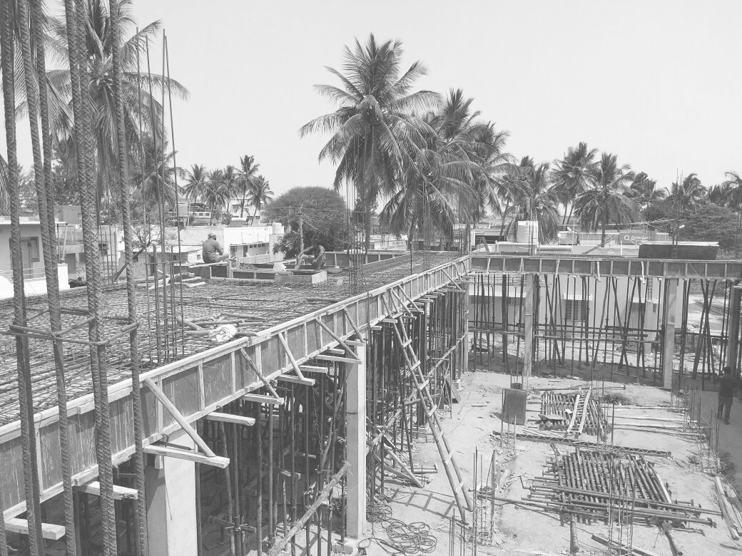 Courtyard House_Under Construction, Chikkaballapura, 2018