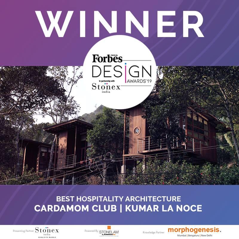 Cardamom Club wins the Forbes Design Award 2019