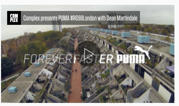 COMPLEX -  PUMA #R698London Video Exclusive: Photographer Dean Martindale Talks about His Love for Photography and London