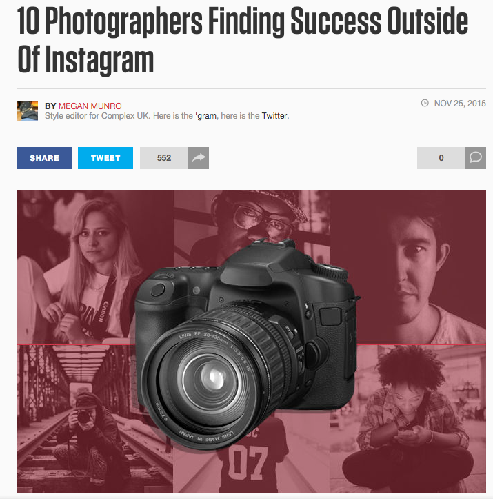 COMPLEX -  10 Photographers Finding Success Outside Of Instagram