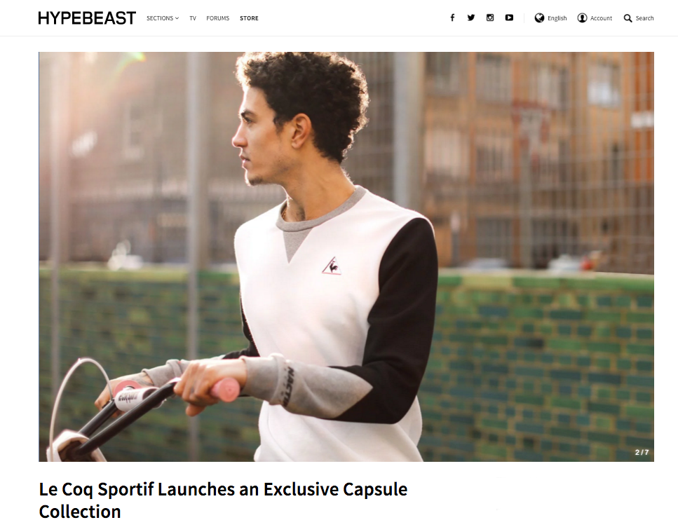 HYPEBEAST -  Le Coq Sportif Launches an Exclusive Capsule Collection