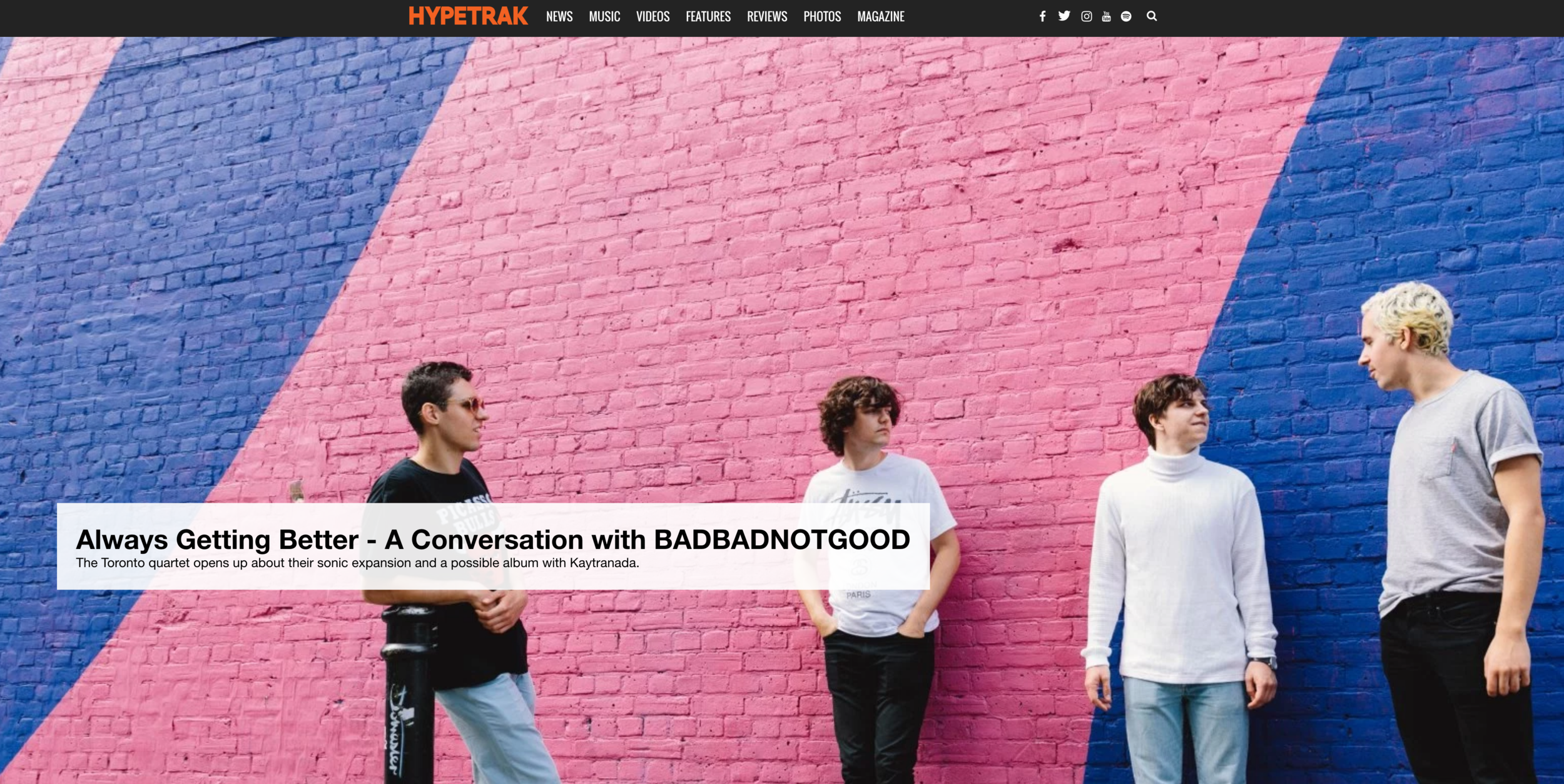 HYPEBEAST  - A Conversation with BADBADNOTGOOD