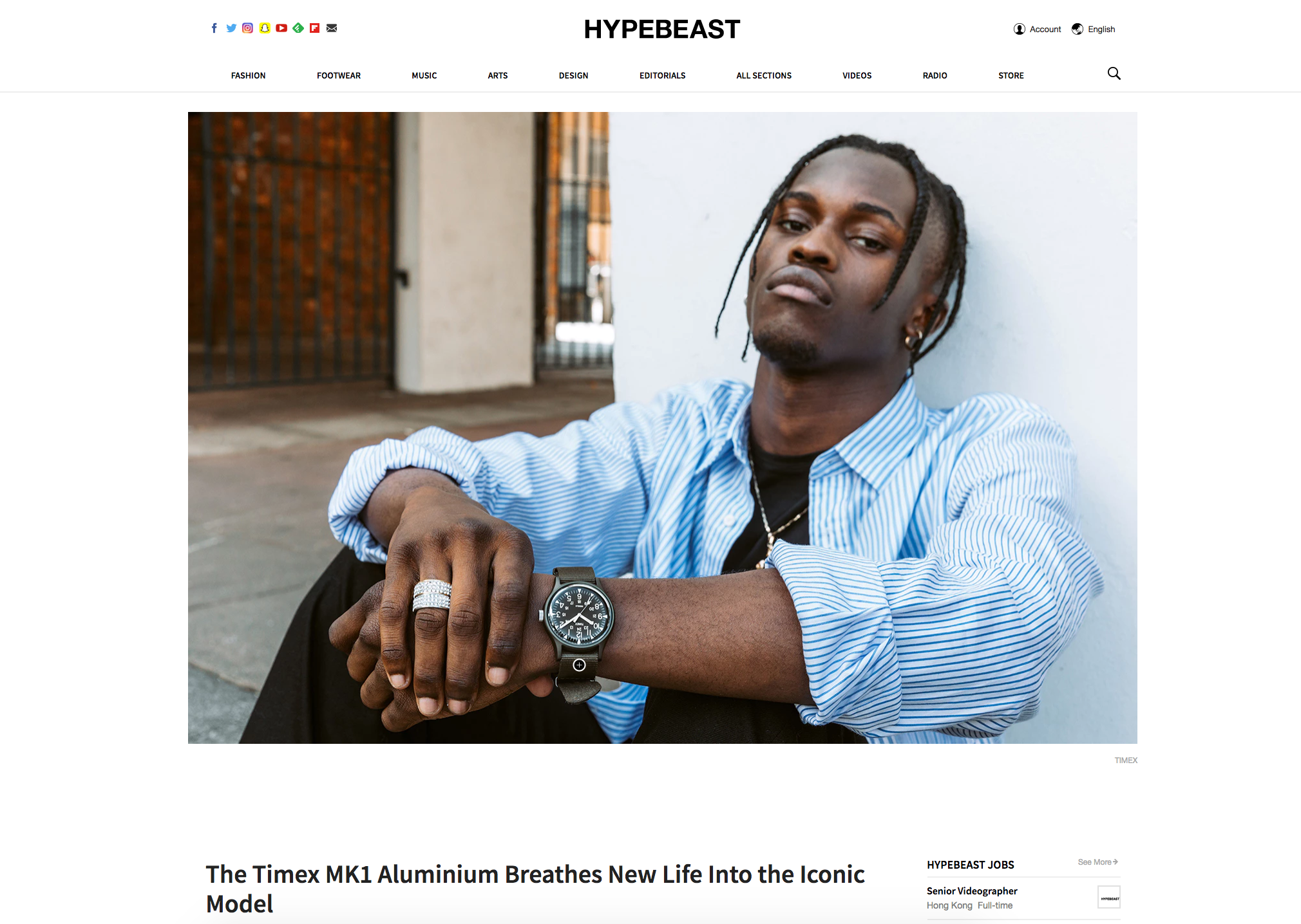 Hypebeast feature
