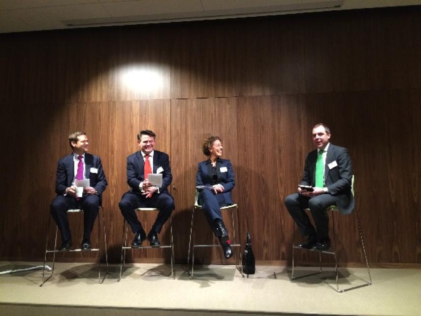The panel assembles (L to R, Roger Leijonqvist, Jonas Cunningham, Annika Muskantor, Fredrik Vernersson)
