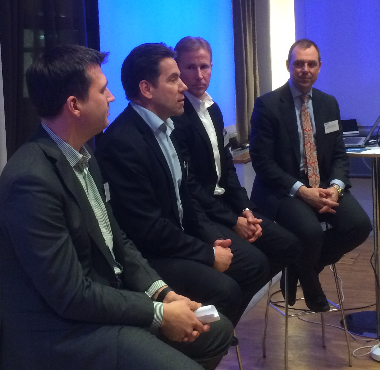 Panelen (från vänster):Niklas Körling, Jan Åberg, Magnus Håkansson och Fredrik Vernersson