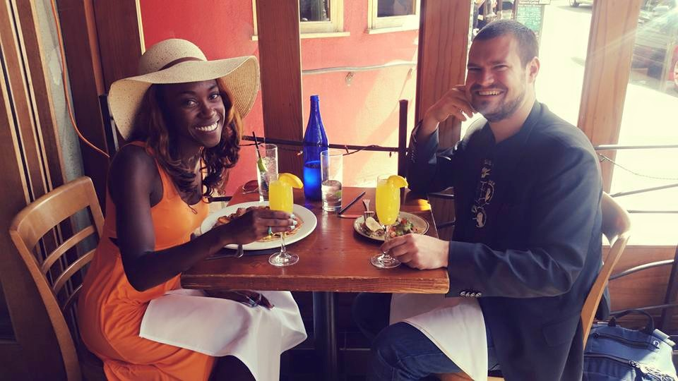Grabbing brunch and mimosas with Chris Hooper, my new accounting friend based in Austrialia. #MoneyandMimosas