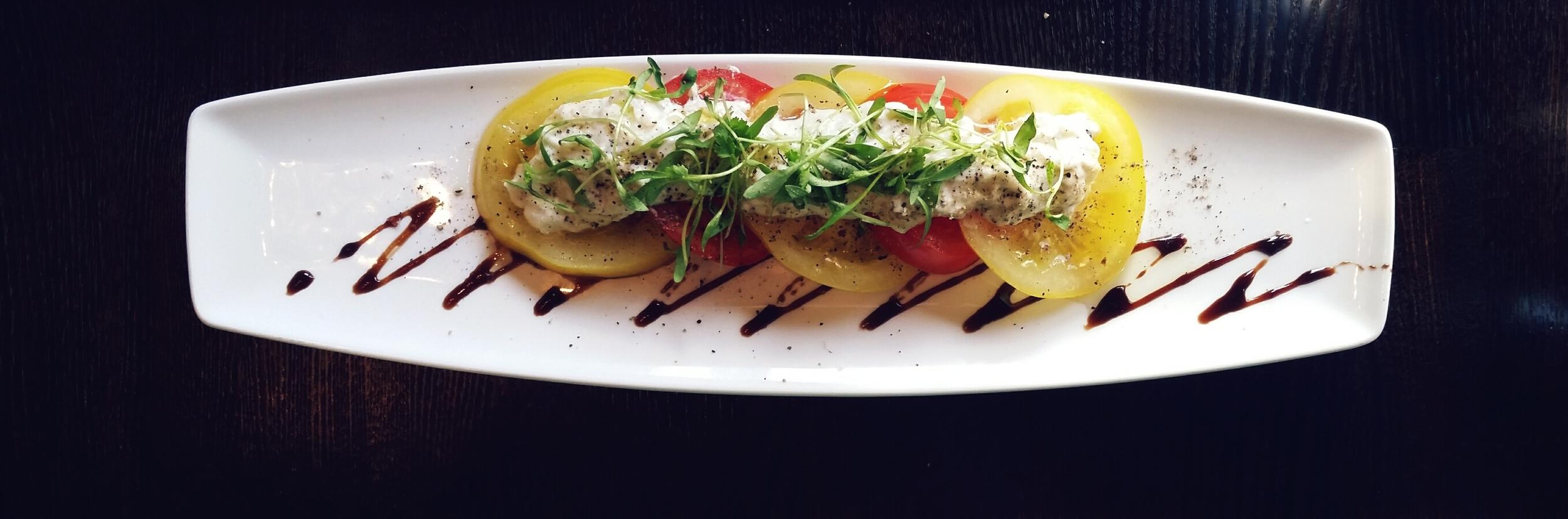 Burrata Salad tomato, balsamic reduction, imported Greek olive oil